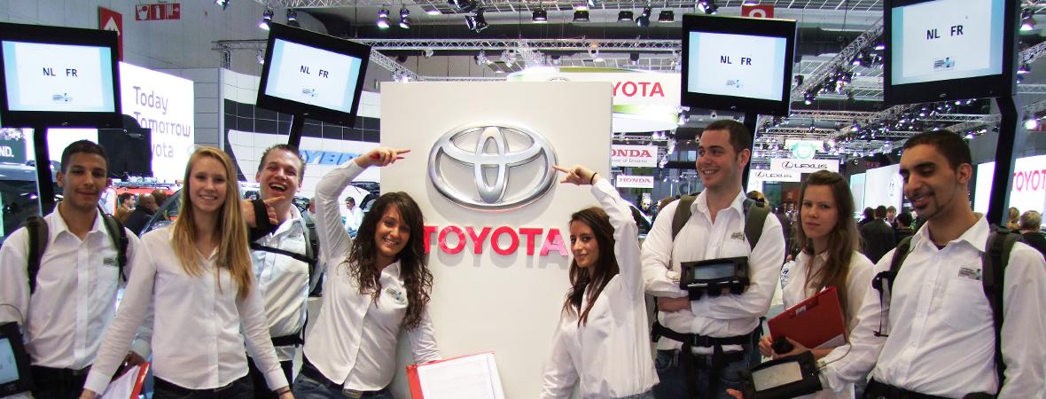 Body screen et écran portatif pour Toyota, une animation événementielle et commerciales - NON STOP MEDIA Atlantique