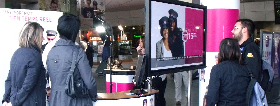 Ecran numérique grand format, une animation digitale - NON STOP MEDIA Atlantique