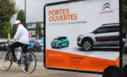 Citroen en affichage mobile Bike'Com par Groupe NON STOP MEDIA