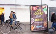 Biocoop en affichage mobile avec Bike'Com par Groupe NON STOP MEDIA