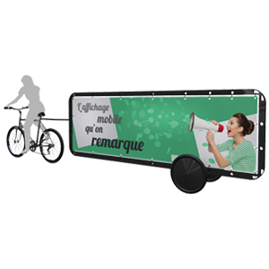Format Panoramique Affiche 3m2 par face - Bike'Com