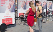 Vélo publicitaire Bike'Com par Groupe NON STOP MEDIA pour Happy Senior