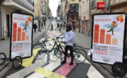 Affichage mobile Bike'Com par Groupe NON STOP MEDIA pour la métropole du Grand Nancy