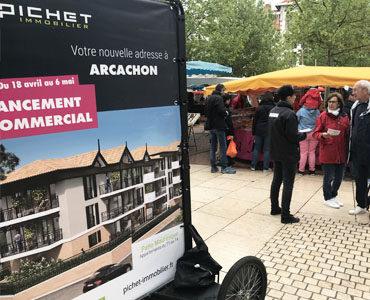 Affichage local à Arcachon