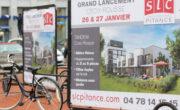 Vélo publicitaire Bike'Com par Groupe NON STOP MEDIA pour SLC Pitance