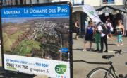 vélo publicitaire pour Arc Immo avec Bike'Com