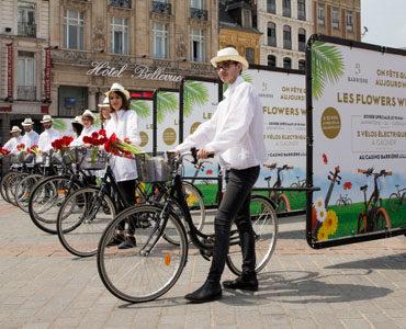 Flowers and Bikes pour le Groupe Barrière