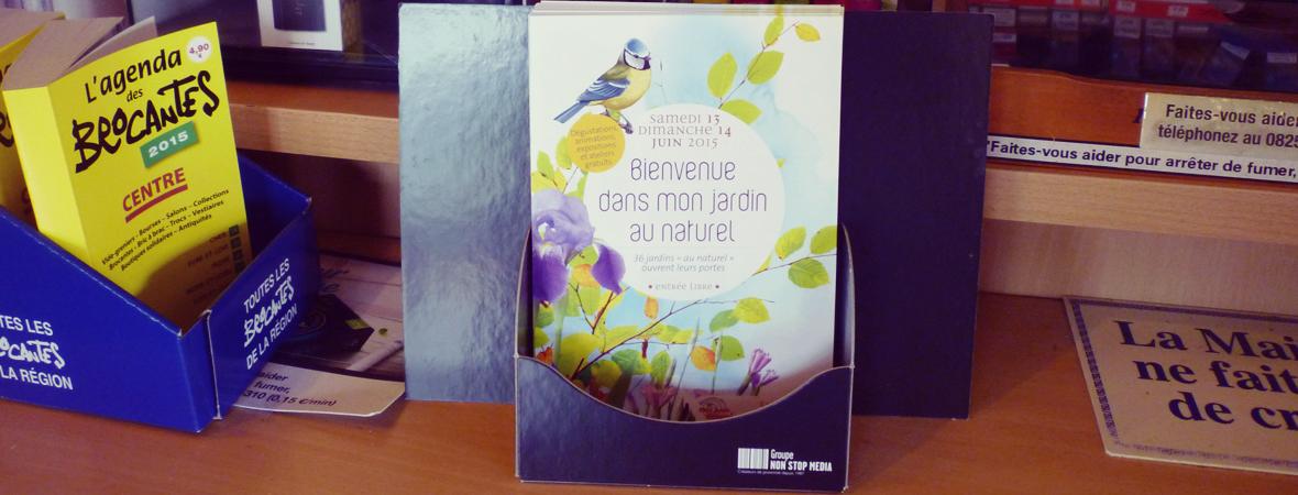 Jardin Naturel - Dépôt et diffusion - Support tactique - NON STOP MEDIA Centre