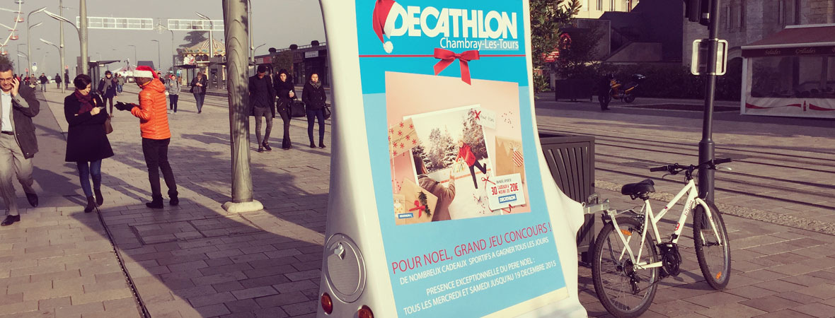 Décathlon - street marketing - affichage mobile - animation - NON STOP MEDIA Centre