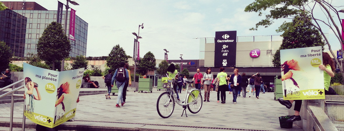 Velo+ - Street Marketing - NON STOP MEDIA Centre