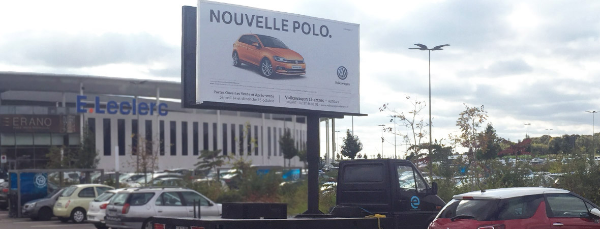 Volkswagen affichage mobile digital en camion LED - NON STOP MEDIA Centre