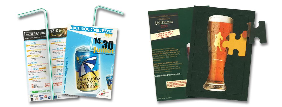 Cart'com Event, impression de carte postale publicitaire gratuite - NON STOP MEDIA Centre