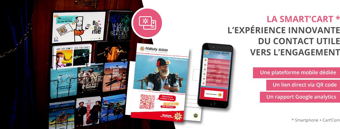 La Smart'cart de Cart'com, la carte postale publicitaire interactive - QR Code et site web mobile - NON STOP MEDIA Centre