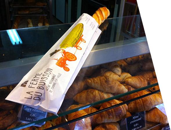 sacs à baguettes publicitaires personnalisables - supports hors médias - NON STOP MEDIA Centre - Val de Loire