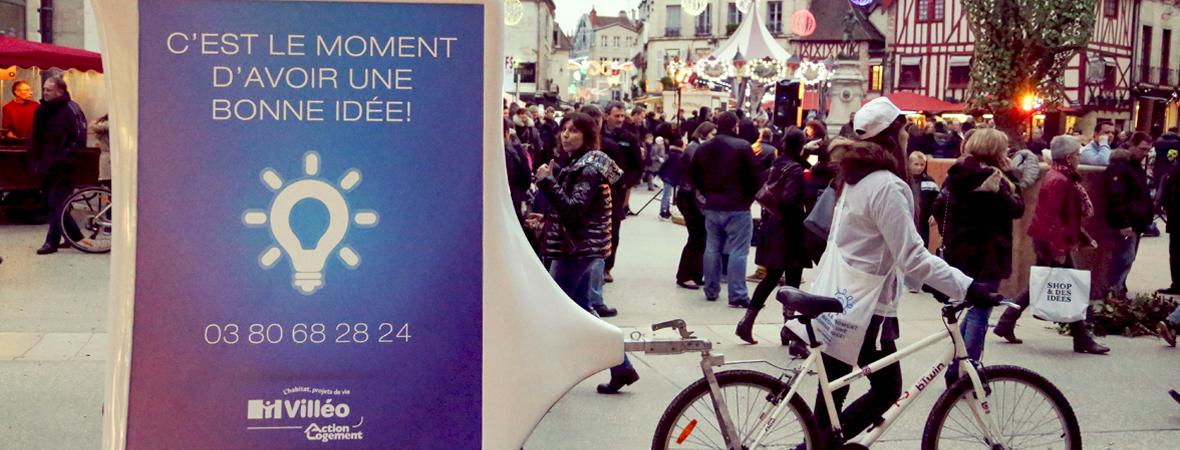 Villeo - Affichage mobile, street marketing, cart'com, diffusion et dépôt - NON STOP MEDIA Grand-Est
