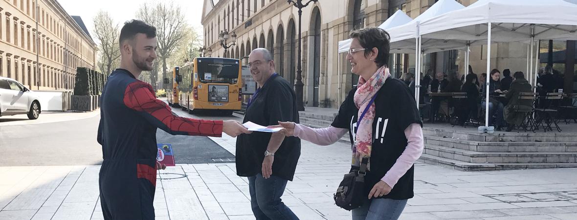 Distribution street marketing pour le CG Moselle avec NON STOP MEDIA Grand Est