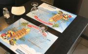 Sets de table publicitaire pour l'aeroport de Metz avec NON STOP MEDIA Grand Est