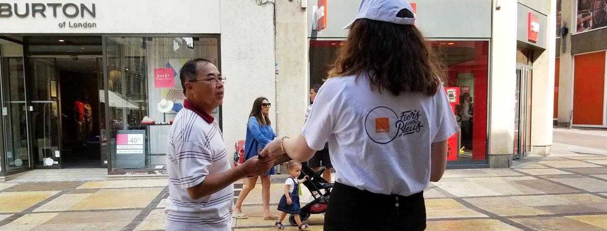 Animation street marketing pour Orange avec NON STOP MEDIA Grand Est