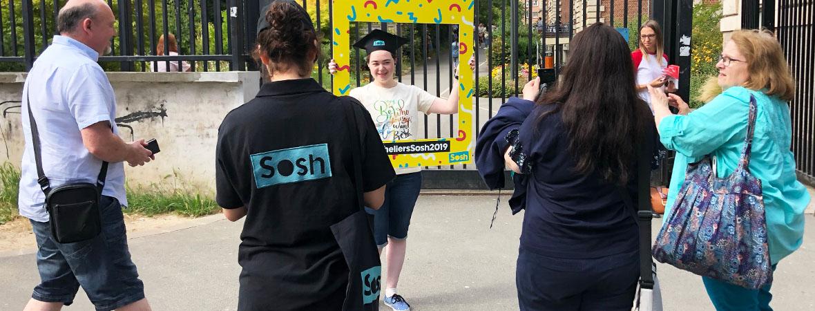 Animation photo et distribution de flyers pour Sosh avec NON STOP MEDIA Grand Est