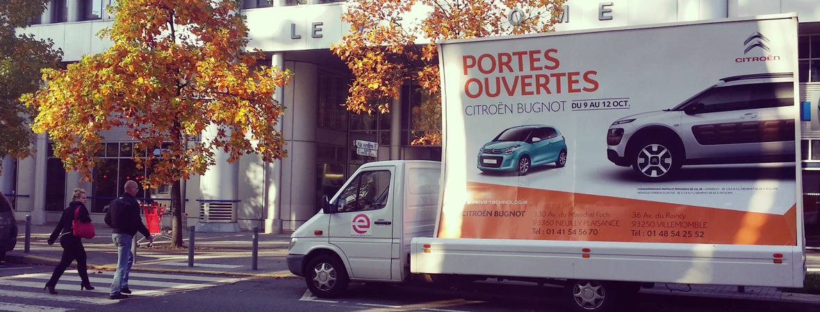 Citroen - affichage mobile - NON STOP MEDIA ile de france