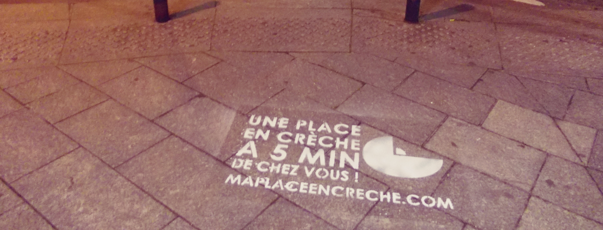Ma place en creche - Street Marketing - NON STOP MEDIA Ile de France