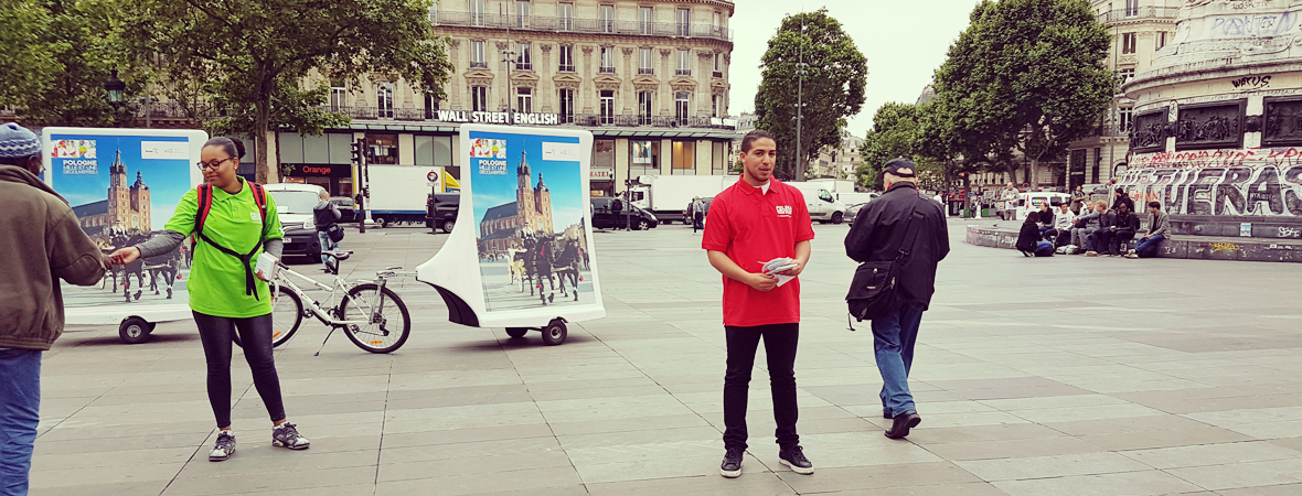 Office National Polonais - Affichage mobile - Street Marketing - NON STOP MEDIA Ile de France