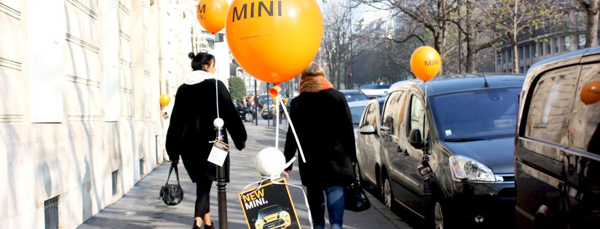 Mini - Street Marketing - Cart4COM - non stop media Ile de France