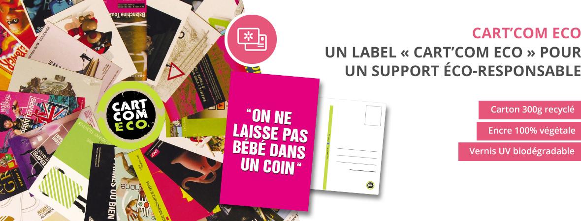 Cart'Com, la carte postale publicitaire gratuite - Ecologique - Groupe NON STOP MEDIA
