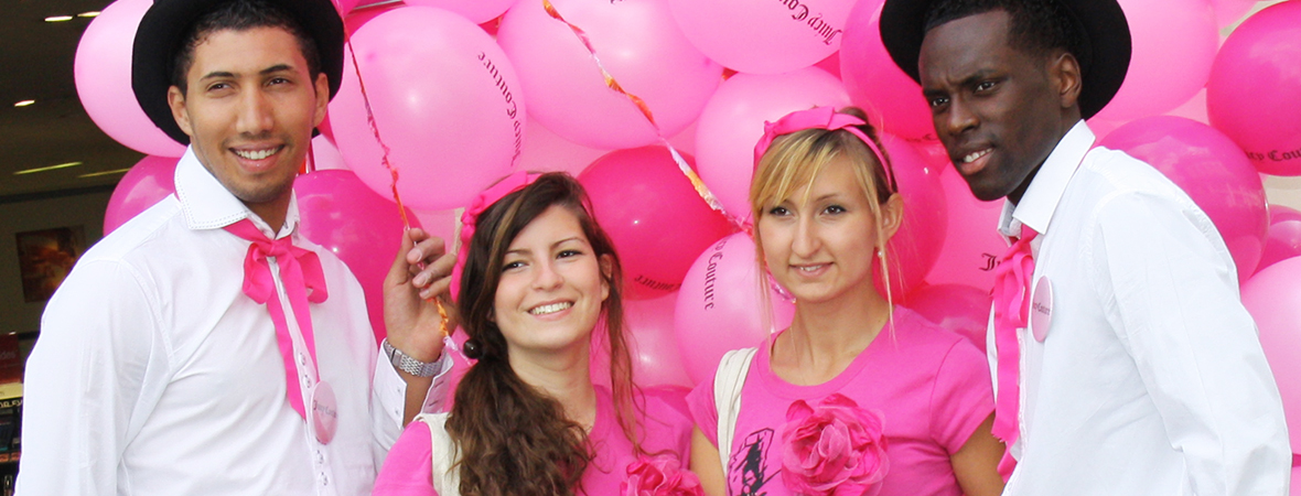 Des ballons pour Juicy couture - Street marketing - Groupe NON STOP MEDIA