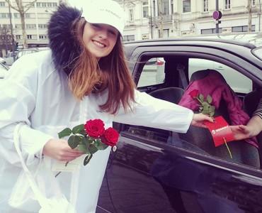 Renault remercie avec des roses