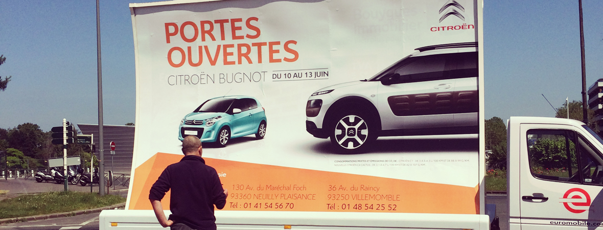 Citroen - affichage mobile - Groupe NON STOP MEDIA