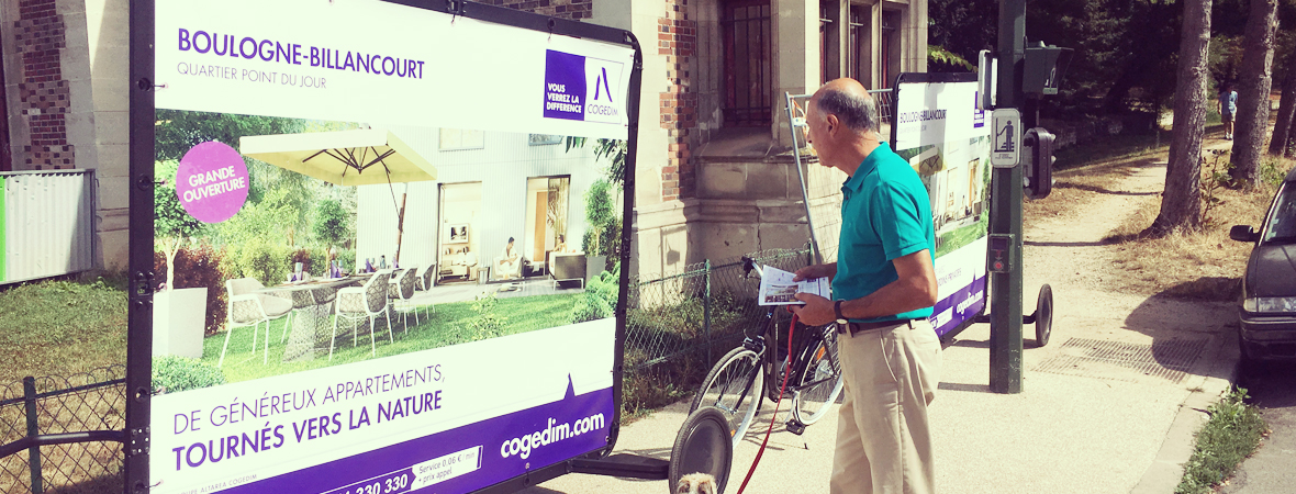 Cogedim - Affichage mobile - street marketing - Groupe NON STOP MEDIA