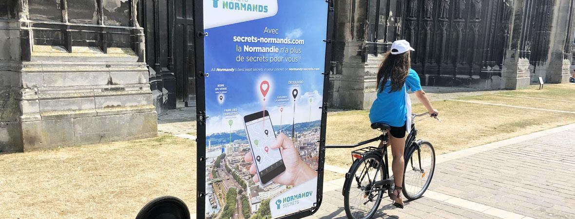affichage mobile et street marketing pour le CRT Normandie avec le Groupe NON STOP MEDIA