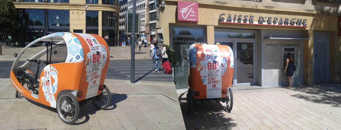 Caisse d'epargne - Affichage mobile - NON STOP MEDIA Grand Est