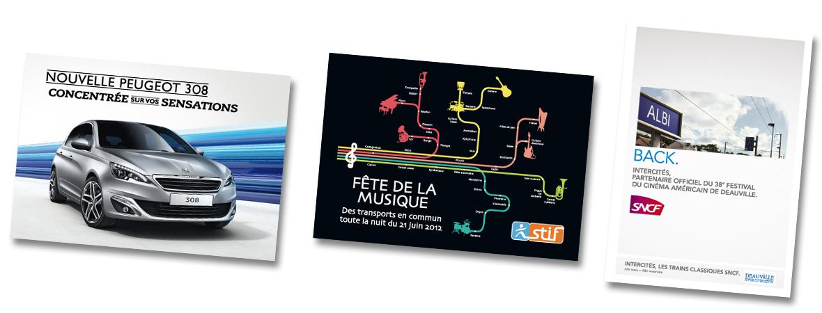 Cart'Com Classic pour les transports - NON STOP MEDIA Île de France