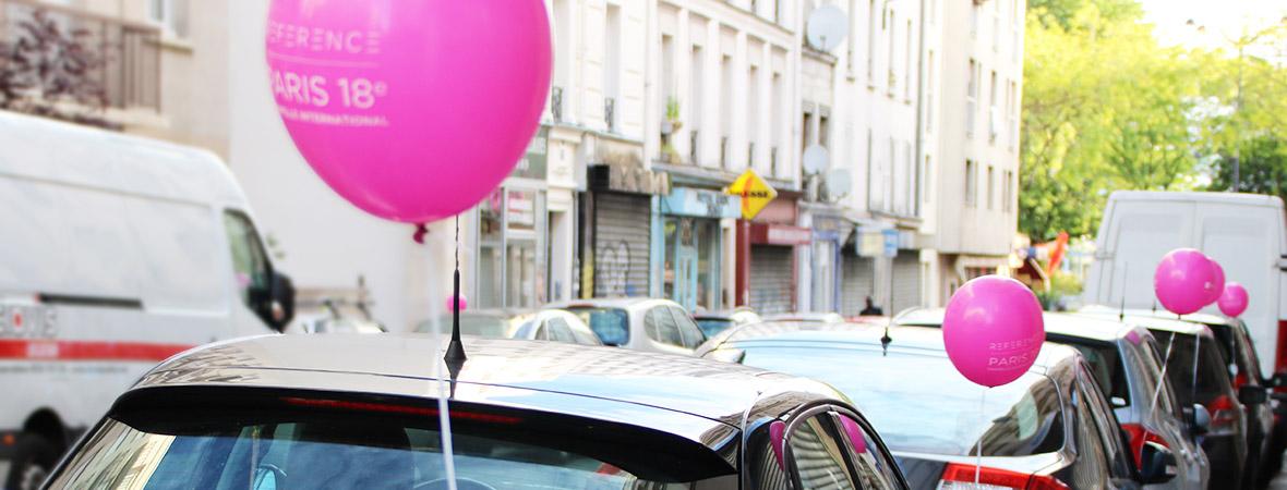 Sogeprom communique avec une guérilla de ballons roses - NON STOP MEDIA Île de France