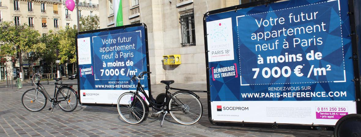 Sogeprom communique avec une tournée locale en Bike'Com - NON STOP MEDIA Île de France