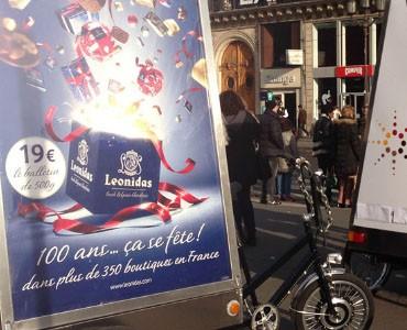 Leonidas à Paris en Bike'Com