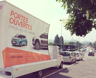 Des camions pub pour Citroën