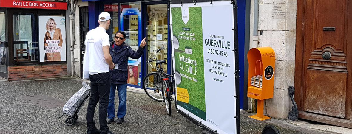 Bike'Com XXL pour le golf Green blue - NON STOP MEDIA Île de France