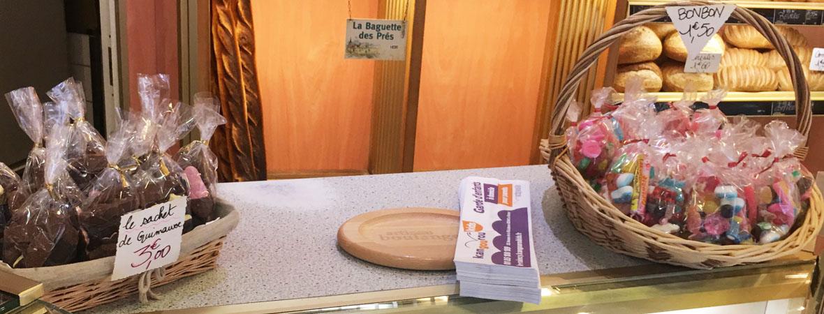 Sac à pain publicitaire pour Kangourou kids avec NON STOP MEDIA Ile de France