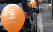 Guerilla Ballon pour Kangourou kids avec NON STOP MEDIA Ile de France
