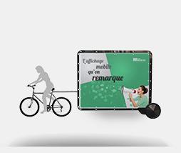 Bike'Com, l\'affichage mobile qui passe partout et se remarque.