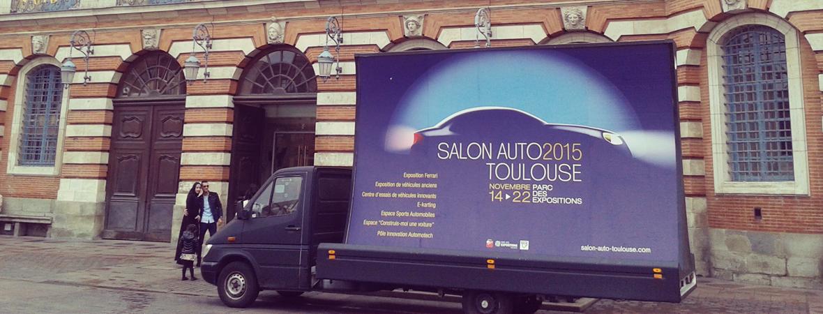 Salon de l'Auto - Street Marketing - NON STOP MEDIA Midi Pyrénées