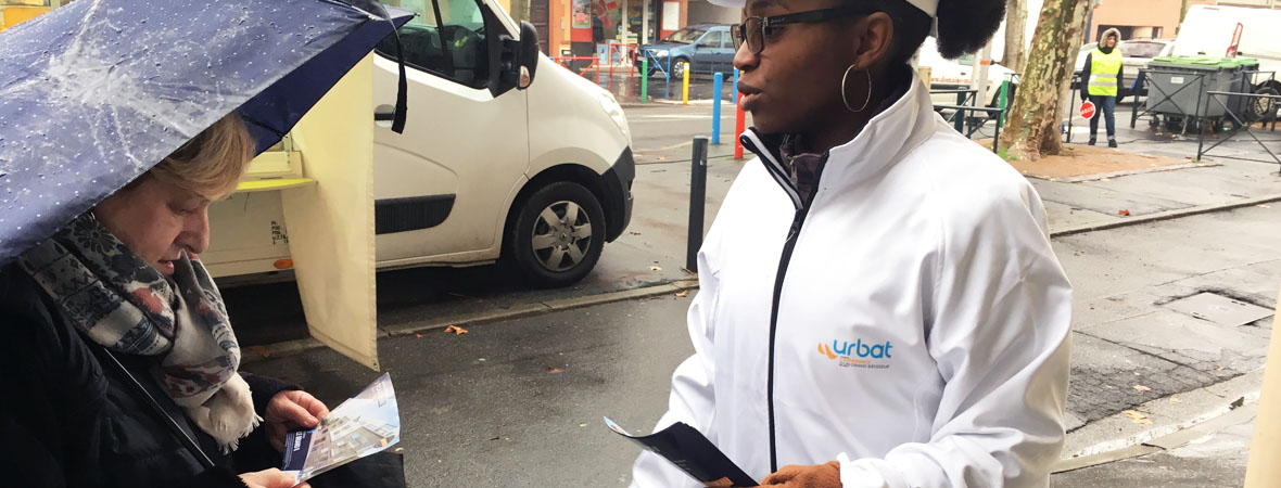 Diffusion street marketing et support tactique pour Urbat avec NON STOP MEDIA Occitanie
