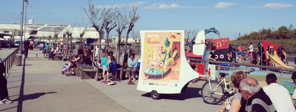 Festival les jours heureux - affichage mobile - street marketing - NON STOP MEDIA Midi-Pyrénées
