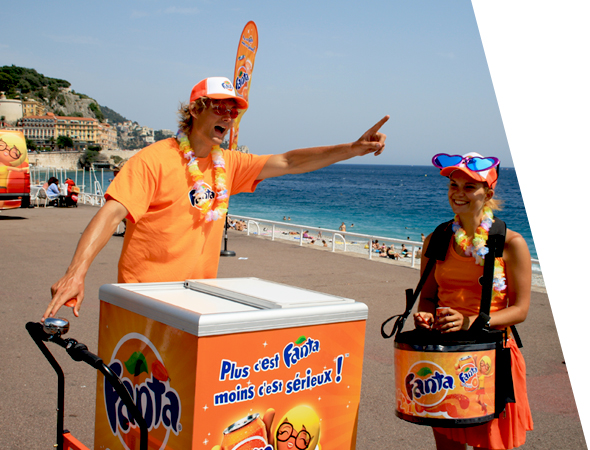 Vélo triporteur pour le street marketing - Affichage mobile - NON STOP MEDIA Midi-Pyrénées