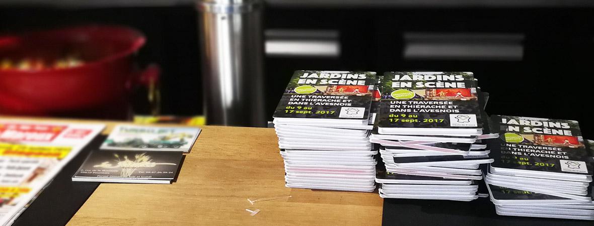 Dépôt et diffusion d'affiches et flyers pour l'événement Jardins en Scène - NON STOP MEDIA Nord