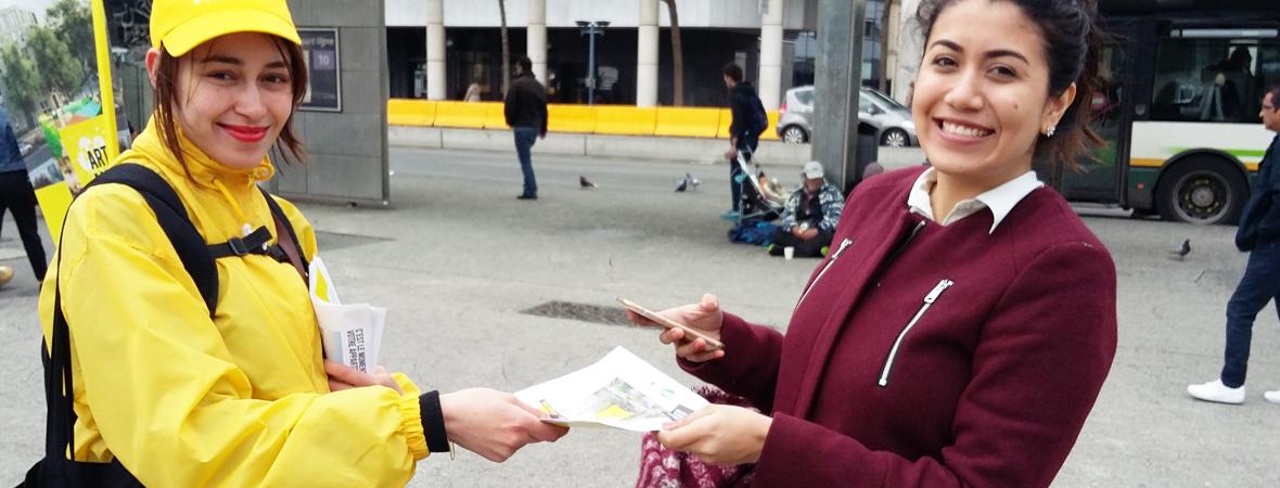 Diffusion street marketing pour Icade avec NON STOP MEDIA Nord