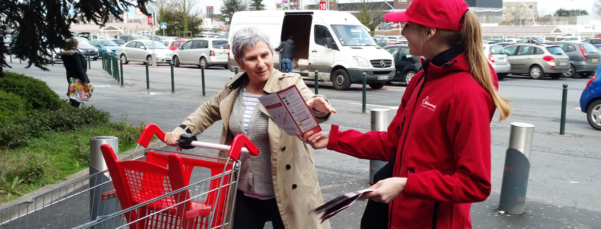 Diffusion street marketing pour Devianne avec NON STOP MEDIA Nord